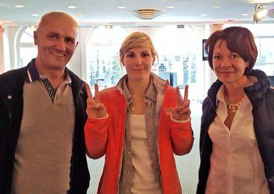 Nelly Moenne-Loccoz, Vice-Championne du Monde de Snowboard Cross a également pu apprécier le travail de Typocentre