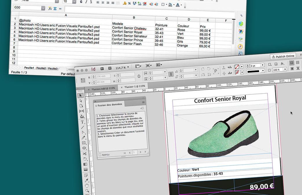 TUTORIEL – La fusion de données Adobe Indesign