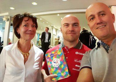 Florence, David Poisson, Médaillé de Bronze en Descente aux Championnat du Monde 2013 et Thierry