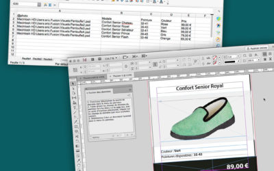 La fusion de données Adobe® Indesign