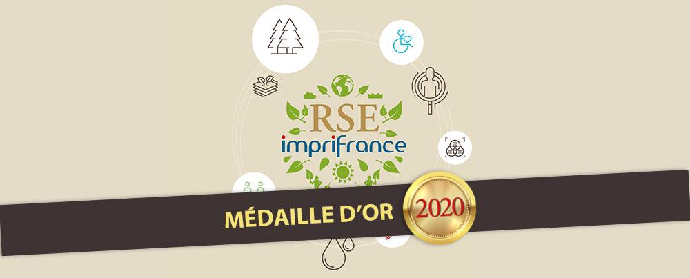 Responsabilité Sociétale : Médaille d'Or 2020 pour Typocentre